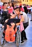 Ludzie uczestniczy w aktywność dla światowego dnia cerebralny palsy zdjęcia royalty free