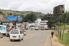 Ludzie ulica w Mbabane, Swaziland, afryka poludniowa, afrykański miasto Fotografia Stock