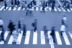 ludzie ulicy brzmienia błękitny skrzyżowanie Zdjęcia Royalty Free
