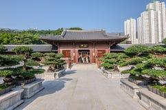 Ludzie viiting Chi Lin Nunnery, blaszecznicy dynastii stylu świątynia Obraz Royalty Free