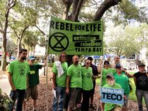 People vs TECO protest, Tampa, Florida