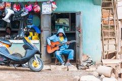 Ludzie w ANTANANARIVO, MADAGASCAR Zdjęcia Stock