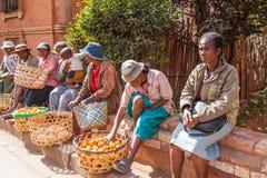 Ludzie w ANTANANARIVO, MADAGASCAR Fotografia Stock