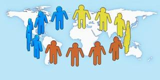 ludzie w bieli jedności. Zdjęcie Stock