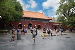 Ludzie w Confucius świątyni w Pekin Zdjęcia Royalty Free