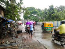 Ludzie w deszczowym dniu Fotografia Stock
