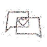 Ludzie w formie buble gadki, serce royalty ilustracja