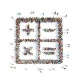 Ludzie w formie kalkulatora ilustracji