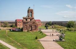 Ludzie w fortecy Oreshek, Rosja Zdjęcie Stock