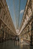 Ludzie w Galeries Royales Hubert przy Bruksela Obrazy Royalty Free