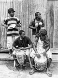 Ludzie w GWATEMALA mieście, GWATEMALA Fotografia Royalty Free