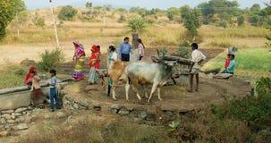 Ludzie w indyjskim kraju Obraz Stock