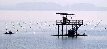 Ludzie w jeziorze Obrazy Royalty Free