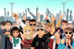 Ludzie w koncercie Zdjęcie Stock