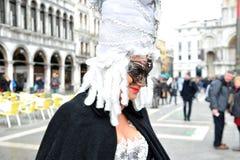 Ludzie w luksusowym kostiumu przy Wenecja, Włochy 2015 Zdjęcie Royalty Free