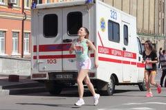 Ludzie w maratonie Zdjęcia Stock
