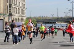 Ludzie w maratonie Obraz Stock