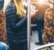 Ludzie w metrze Obrazy Royalty Free