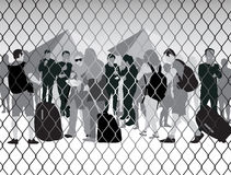 Ludzie w obozie uchodźców Obrazy Stock