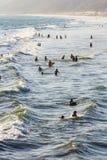 Ludzie w Pacyficznym oceanie Obraz Stock