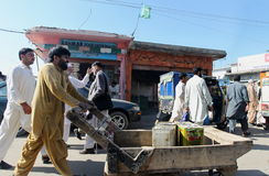 Ludzie w Pakistan - życie codzienne Fotografia Stock