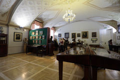 Ludzie w Pushkin domu, St Petersburg, Rosja Obrazy Stock