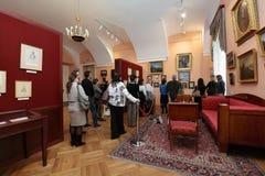 Ludzie w Pushkin domu, St Petersburg, Rosja Zdjęcia Royalty Free