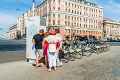 Ludzie w Pushkin kwadracie Moskwa, Rosja Obraz Royalty Free