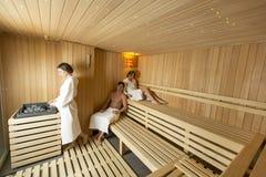 Ludzie w sauna Obraz Royalty Free