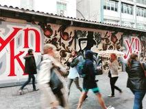 Ludzie w ulicach obrazy stock