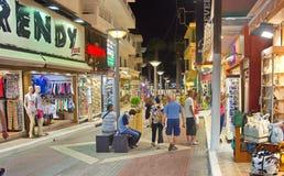 Ludzie w ulicach Crete Fotografia Royalty Free