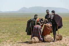 Ludzie świat - grupa Maasai Fotografia Royalty Free