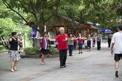 Ludzie ćwiczenia w parku Fotografia Stock