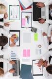 ludzie wykresów przedsiębiorstw Obraz Stock