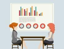 ludzie wykresów przedsiębiorstw ilustracji
