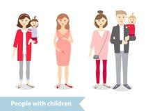Ludzie z dzieckiem Obrazy Stock