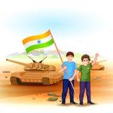 Ludzie z indianin flaga Obraz Royalty Free