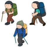 Ludzie z plecakiem ilustracja wektor