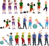 Ludzie z różną ciało masą Obraz Stock