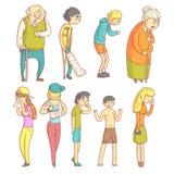 Ludzie Z Różnymi Illnesses ilustracji