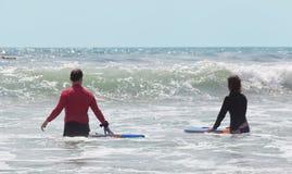 Ludzie z surfboards fotografia royalty free