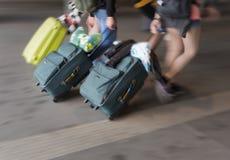 Ludzie z walizkami Zdjęcie Stock