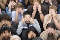 Ludzie Zakrywa Ich oczy Fotografia Stock