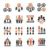 Ludzie zarządzanie ikony ilustracji