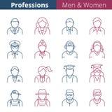 Ludzie zawodów i zajęcia ilustracji