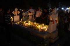 Ludzie zbierają świętować Wszystkie dusza dzień w Kolkata Obraz Royalty Free