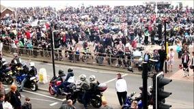 Ludzie zbierają dla jeden duzi rowerów festiwale zdjęcie wideo