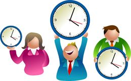 ludzie zegar ilustracja wektor
