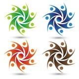 Ludzie zjednoczenie logo royalty ilustracja