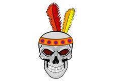 Ludzka czaszka indianina głowa Fotografia Stock